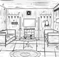 B And W House Escape EightGames