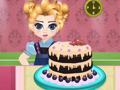 Baby Elsa Chocolate Cake GraceGirlsGames