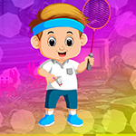Badminton Playing Boy Escape Games4King