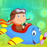 Blue Plane Girl Escape Games4King