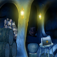 Blue Treasury Cave Escape 2 5nGames