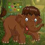 Brown Elephant Rescue Games4King