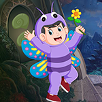 Butterfly Boy Rescue Games4King