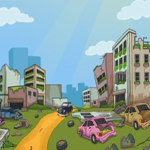 Car Escape From Dilapidated Area Games2Jolly