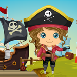 Caribbean Pirate Girl Rescue Games4King
