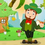 Cartoon Leprechaun Rescue Games4King