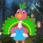 Cartoon Little Peacock Escape Games4King