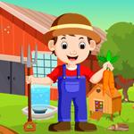 Cartoon Young Farmer Escape Games4King