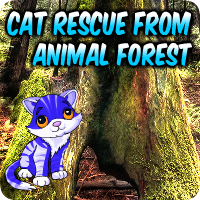 Cat Rescue From Animal Forest AvmGames