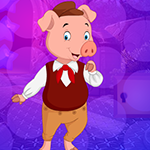 Cheerful Lady Pig Escape Games4King