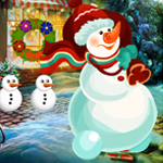 Christmas Snowman Rescue Games4King