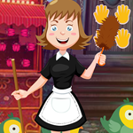 Cleaning Lady Rescue Games4King