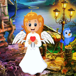 Cute Angel Rescue Games4King