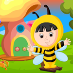Cute Bee Girl Rescue Games4King