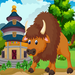 Cute Bison Rescue Games4King