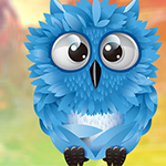 Cute Blue Owl Escape Games4King