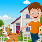 Cute Boy With Perky Dog Rescue Games4King
