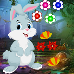 Cute Cartoon Rabbit Escape Games4King