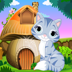 Cute Cat Rescue Games4King