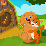 Cute Dog And Cat Embracing Escape Games4King