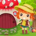 Cute Girl Rescue From Garden House Games4King
