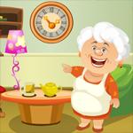 Cute Grandma Rescue Games4King