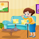 Cute Grandmother Rescue Games4King