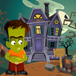 Cute Green Zombie Rescue Games4King