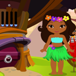 Cute Hawaiian Dancer Girl Rescue Games4King