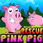 Cute Pink Pig Rescue Games4King