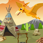 Cute Pterodactyl Rescue Games4King