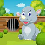 Cute Rhinoceros Rescue Games4King