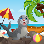 Cute Seal Rescue Games4King