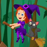 Cute Witch Rescue Games4King