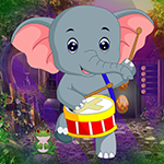 Dancing Elephant Rescue Games4King