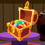 Diamond Treasure Box Escape Games4King