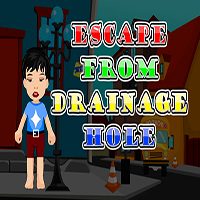 Escape From The Drainage Hole AjazGames