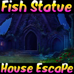Fish Statue House Escape Games4King