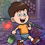 Fishing Boy Rescue Games4King