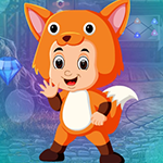 Fox Costume Girl Escape Games4King