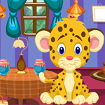 Funny Leopard Cub Rescue Games4King