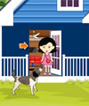 Girl Escape From Hungry Dog PinkyGirlGames