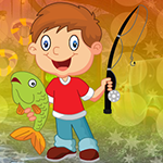 Gleeful Fishing Boy Escape Games4King