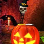 Golden Halloween Pumpkin Escape Games2Rule