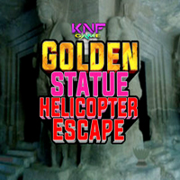 Golden Statue Helicopter Escape KNFGames