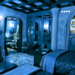 Gothic Blue Room Escape GenieFunGames
