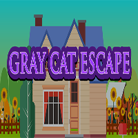 Gray Cat Escape TheEscapeGames