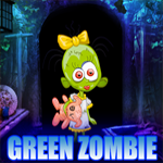 Green Zombie Girl Rescue Games4King
