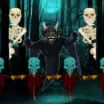 Halloween Haunted Forest Escape Games2Rule