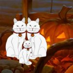 Halloween White Cat Escape WowEscape